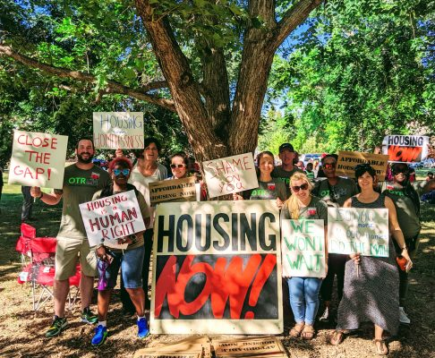 OTRCH staff at Housing Now March on October 3rd for affordable housing fund in cincinnati